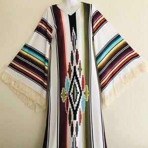 Dresses - Fabulous New SERAPE BLANKET Print Maxi DRESS M / L